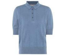 Besticktes Poloshirt aus Wolle