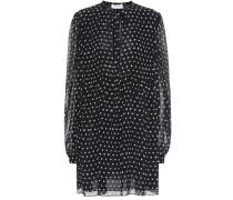 Kleid mit Polka-Dots aus Seide