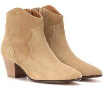 Étoile The Dicker Ankle Boots aus Veloursleder