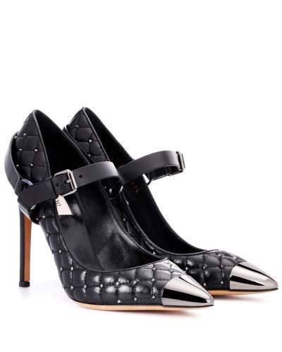 Valentino Damen Garavani Pumps Rockstud Spike aus Leder Große Überraschung ArCPm