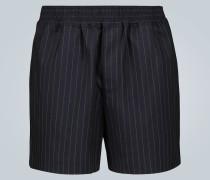 Shorts mit Nadelstreifen-Muster