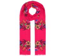 Bedrucker Schal aus Seide und Wolle