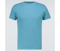 T-Shirt aus Baumwolle und Leinen