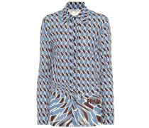 Bedruckte Bluse aus Jersey