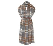 Karierter Schal aus Alpaka und Wolle