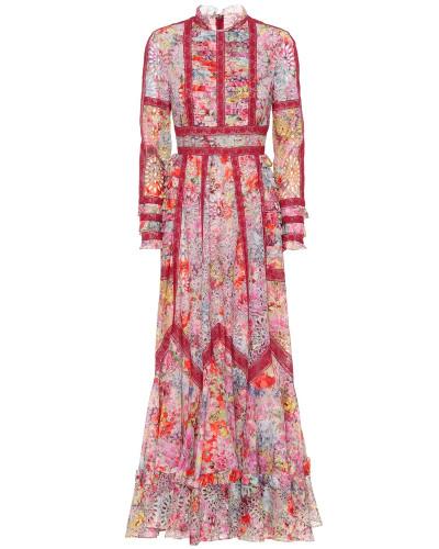 Verzierte Robe Jardin de Fleurs mit Spitze