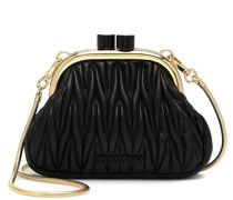 Clutch Miu Belle Mini aus Leder