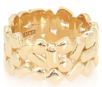 Ring Mosaic Eternity aus 18kt Gelbgold