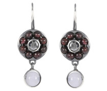 Ohrringe aus Silber mit Steinen