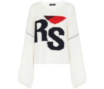 Pullover aus Wolle mit Intarsie