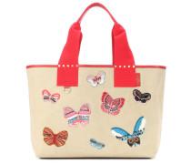 Garavani Shopper Butterfly aus Canvas