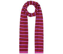 Schmaler Schal mit Streifen aus Lamé