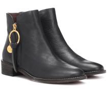 Ankle Boots Louise Flat aus Leder