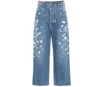 High-Rise Jeans Blå Konst