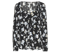 Bedruckte Bluse Artistic Blossoms
