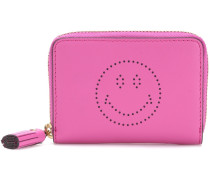 Kleines Leder-Portemonnaie Smiley