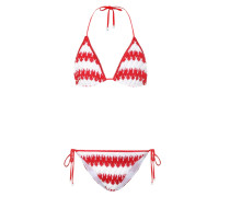 Gestreifter Strick-Bikini