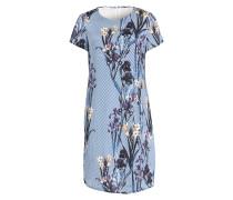 Kleid - blau/ weiss