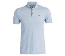 Piqué-Poloshirt EBITO - hellblau meliert