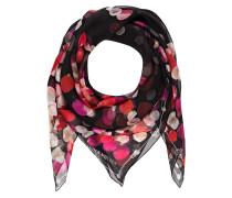 Seidentuch - schwarz/ pink/ rose