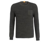 Pullover KUTASK - dunkelgrün meliert