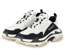 Sneaker TRIPLE S - WEISS/ SCHWARZ