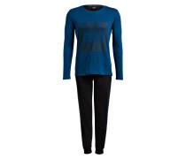 Schlafanzug - blau/ schwarz