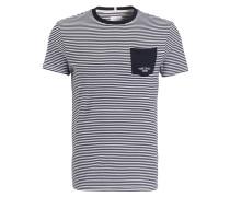 T-Shirt - marine/ weiss gestreift
