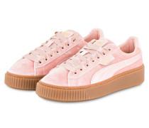 Samt-Sneaker BASKET PLATFORM - ROSA
