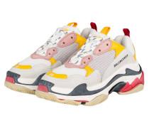 Sneaker TRIPLE S - WEISS/ ROSA/ GELB