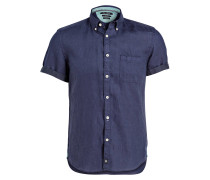 Halbarm-Hemd Regular-Fit aus Leinen