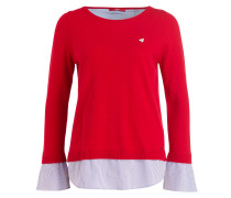 Pullover - rot/ blau/ weiss