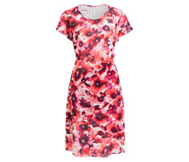 Kleid - rot/ rosa/ offwhite