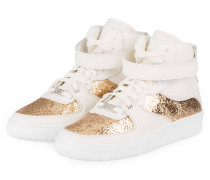 Hightop-Sneaker - WEISS/ GOLD
