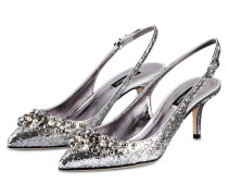 Slingpumps - SILBER METALLIC