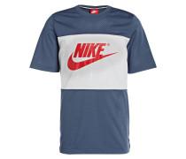 T-Shirt - blau/ weiss