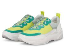 Plateau-Sneaker - MINT/ NEONGRÜN