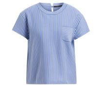 Strickshirt - blau/ weiss gestreift