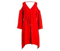 Kleid COLD SHOULDER - rot