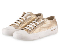 Sneaker ROCK - GOLD METALLIC/ WEISS