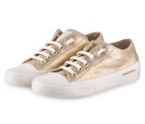 Sneaker ROCK - gold metallic/ weiss