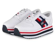 Plateau-Sneaker CUSTOMIZE - WEISS