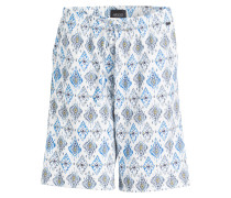 Sleep-Shorts RIVER - weiss/ blau/ ocker