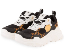 Plateau-Sneaker - SCHWARZ/ BRAUN