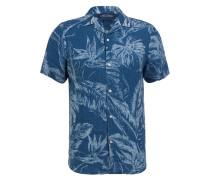 Halbarm-Resorthemd Slim Fit aus Leinen