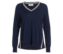 Pullover mit Seidenanteil - navy