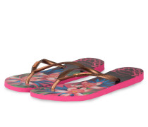 Zehentrenner TROPICAL - PINK/ GOLD