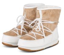 Moon Boots MONACO LOW WP - WEISS/ BEIGE