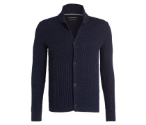 Strickjacke in Strukturstrick - navy