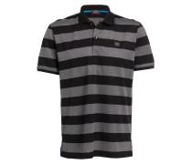 Piqué-Poloshirt - schwarz/ grau gestreift
